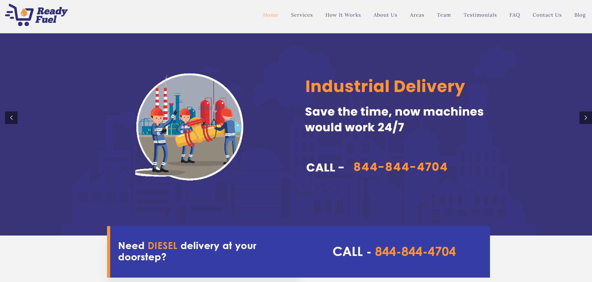 Readyfeul Website Design